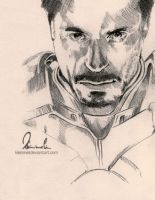 Iron Man - Tony Stark Sketch by kleinmeli