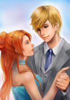 Commission - America and Maxon by Marimari999