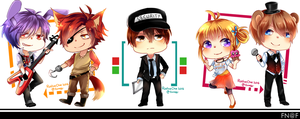 fnaf | co-workers by Roslue-chie