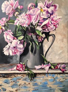 Drooping Peonies by BLundeArt