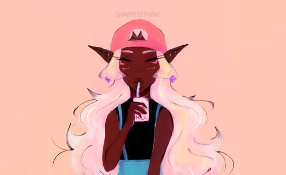 Strawberry Milk by sharpteething