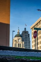 Iconic Fort Wayne... in a Puddle by redwolf518