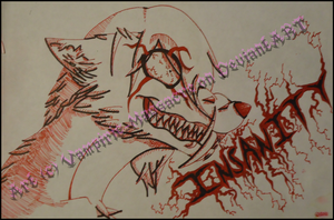 iNSaNiTY -this is a really really old drawing- by flannelRaptors