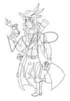 WIP - Steampunk costume design by Luray