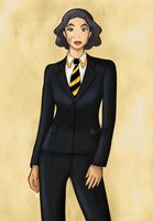 Lin Beifong as Agent Coulson by mujigae45