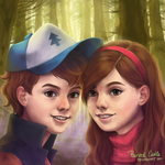 Twins forever /Gravity Falls by paintedcastle