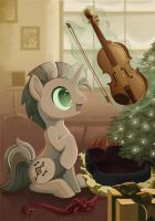 MLP Secret Santa: A New Violin by SambaNeko