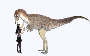 Joan Watson with Nanotyrannus by MommaCabbit