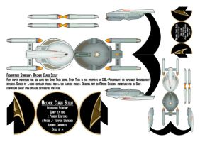STAR TREK: Archer Class Scout Papermini by TheShepster
