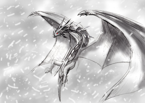 Skyrim Dragon by CaptainFaybs