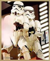 Stormtroopers on Death Star by eyeqandy
