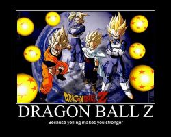 dbz motivational poster by evilgaaratwin