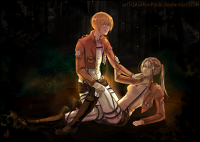 Commission: Shina and Armin by AurionPride