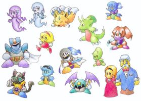 My characters from Kirby by gerugeon