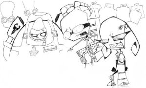 The villians of Invader Zim by Half-dude