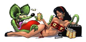 Rat Fink Pinup Colors by nahp75