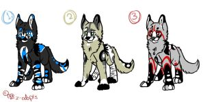 CLOSED Wolf Adopt Batch by Skullz-adopts