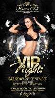 VIP Party Flyer PSD Template Golden by outlawv15