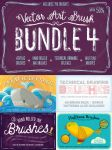 Vector Art Brush Bundle 4 by Jeremychild