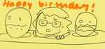 Happy Birthday Artist-squared! by GraySlate