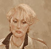 Daily Sketch 13: Miranda Priestly by artandwine365