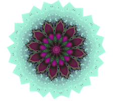 Crystal coloured flower by Sulfura