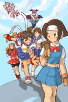 capcom gals by edwardgan