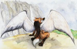 Winged Maned Wolf by sebastiangreyfox