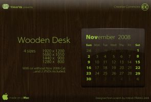 Wooden Desk by mtbird