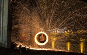 Steel Wool Spinning #2 by GregFisher