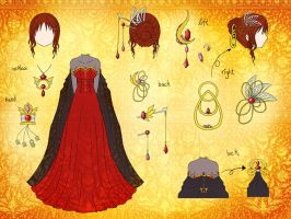 Dress Design: demon by Eranthe