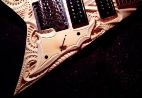 pickguard carving by vankuilenburg