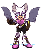 Rouge the Bat -Sonic Boom Design- by Yanimae