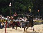 Prague Castle Jousting Tournament by Adinapunk