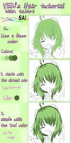 Sai Tutorial : Hair color by Yen-mi