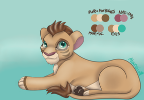 Lion Adoptable by Alanaias