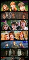 Harry Potter Through The Years by warrioroffantasy