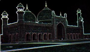 Glowing Badshahi Mosque by Expectations
