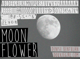 Moon Flower Font by deathmunkey