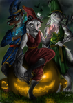 Commission - The magic trio by FuriarossaAndMimma