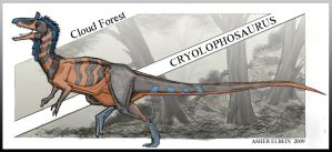 Cloud Forest Cryolophosaurus by Ashere