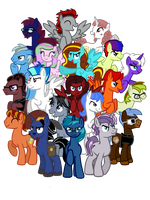 The League of Analysis Bronies by InkRose98