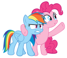 Rainbow Dash and Pinkie Pie by Bronyboy