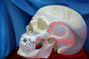 Skull in Oil by icantthinkofaname-09