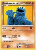 Cookiemonster pokemon card by Weirddudeguy