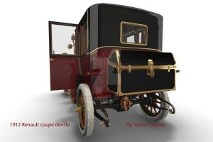 1912 Renault Coupe deVille 6 by GoldenSim