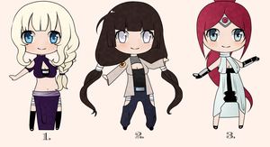 Naruto Adoptable OCs - Set #3 (CLOSED) by ConnieMeow