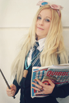 my Luna Lovegood cosplay at the comic-con by MissWeirdCat