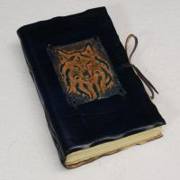 Dark Blue Wolf Book by gildbookbinders
