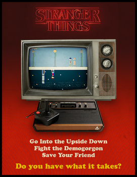 Stranger Things Atari Ad by scottzirkel